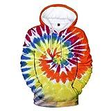 Kapuzenpullover Herren,Unisex 3D Druck Hoodie Jungen Hoodie Pulli Freizeit Sweatshirt Warm Große Größen Modern Langarm Sweatshirt für Herbst Winter
