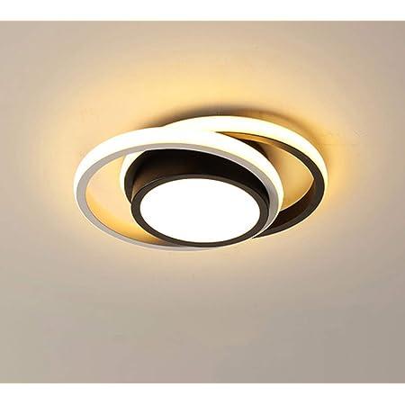 Osairous LED Plafonnier Moderne, Lampe de Plafond 21W 2 Anneaux, Plafonnier en métal Acrylique Blanc pour Salon, Chambre à Coucher, étude 3500K