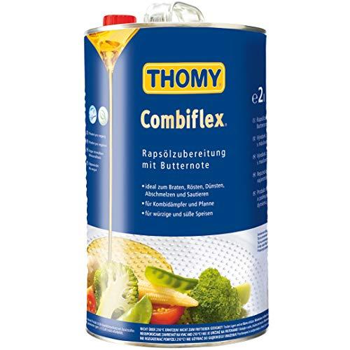 Thomy Combiflex, Rapsölzubereitung mit Butteraroma o.k.A., Rapsöl zum Braten, Vegan, 1er Pack (1 x 2L)