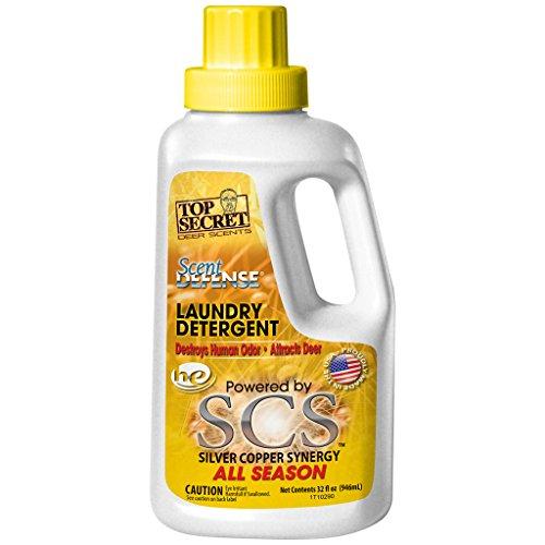 Top Secret Deer Scent Defense Laundry Detergent, Yellow, 32 oz