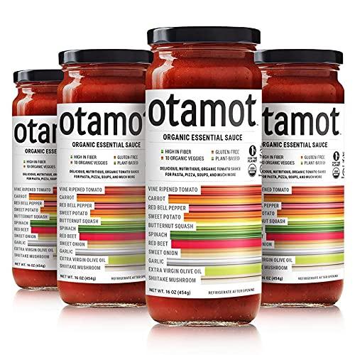 Otamot Organic Essential Sauce (4 Pack) 10 Organic Veggies, No Sugar Added, Non-GMO, Vegan