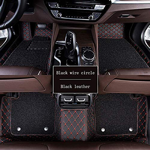 1yess Auto-Fußmatten, for Porsche 911 Panamera Kaiman alle Modelle Auto Teppich Covers Bodenmatten-Autoteppich Covers Cayenne (Color : Black red line)