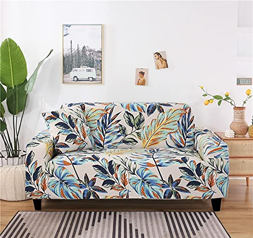 Magic Spandex Funda de sofá elástica Universal Antideslizante Funda de sofá Individual/Dos/Tres/Cuatro Asientos Funda de sofá para Sala de Estar A17 1 Plaza