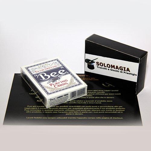 Mazzo di carte Bee - Mazzo formato poker - dorso blu - Carte da gioco - con omaggio esclusivo firmato SOLOMAGIA