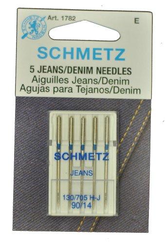 SCHMETZ tela vaquera Agujas para máquina de coser tamaño 14