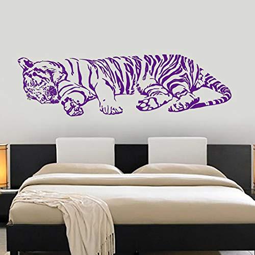 Zaosan Wandtattoo Tiger schlafen Dschungel afrikanischen Raubtier kühlen Innenraum