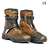 Bela Junior - Stivali da moto turismo, impermeabili 47 marrone