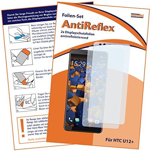 mumbi Schutzfolie kompatibel mit HTC U12+ Folie matt, Bildschirmschutzfolie (2X)