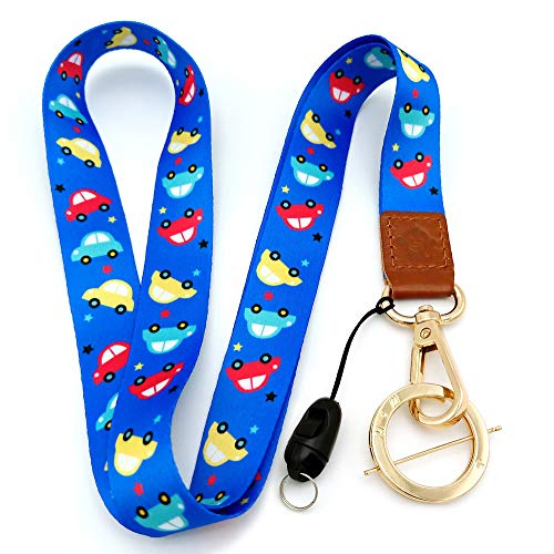 H.M Golden Series Neck Lanyard with ID Holder/Key Chain Holder/Mobile Phone/Wallet etc (car)