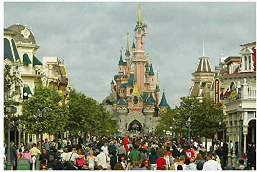 Jigsaw Puzzle 1000 Pieces of Wooden Puzzle Classic puzzle toy Paris Disneyland becomes one of Europeans