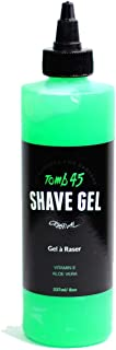 Tomb 45 Non-Foaming Transparent Shave Gel with Skin Replenishing Vitamin E, Soothing Aloe Vera, Sensitive Skin Moisturizer, Fresh Scent 8oz
