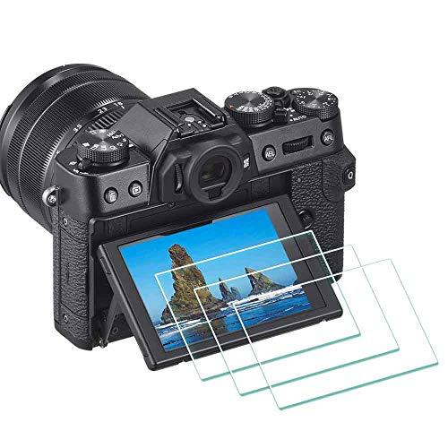 ULBTER X-T30 Displayschutzfolie für Fujifilm X-T30 X-T20 X-T10 XF10 Fuji Film X-T100 X-A1 X-A2 XT30 Digitalkamera,0,3 mm 9H Härte gehärtetes Glas Flim Anti-Scrach Anti-Fingerabdruck 3 Stück