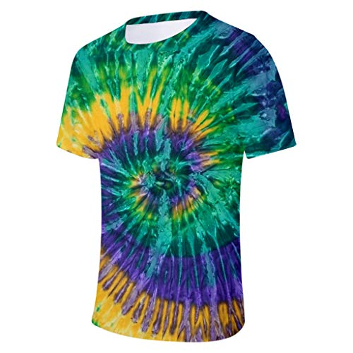 Find Discount Litetao 2XL Multicolor 657615 (Men's Solid Crew Neck Short Sleeve Pocket T-Shirt 3D Gr...