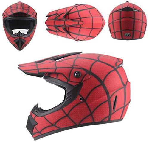 Sunzy Kindermotorradhelme, Roller Helme, Spinnennetz-Muster Sturzhelme entsprechen DOT-Zulassung,S