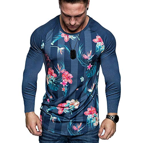 Luckycat Basic Herren Slim Fit Langarm Rundhals Shirt Longsleeve T-Shirt Sweatshirt Herren Oversize Basic Longsleeve O-Neck T-Shirt