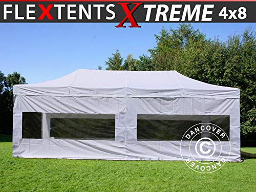 Dancover Vouwtent/Easy up tent FleXtents Xtreme 60 4x8m Wit, inkl. 6 Zijwanden