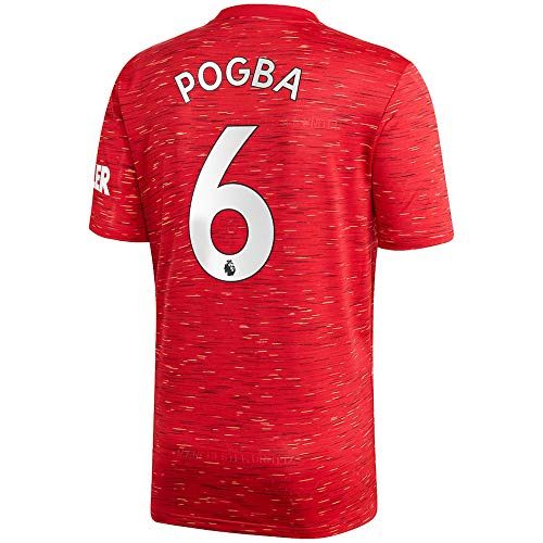 Pogba #6 Manchester United Home Men's Soccer Jersey- 2020/21 (XX-Large) Red