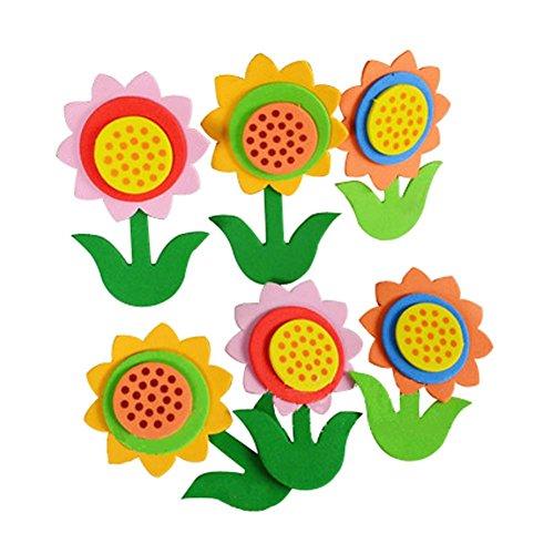 Ensemble de 4 Beautiful Flowers Nursery décoration murale Produits, 5 x 7 cm