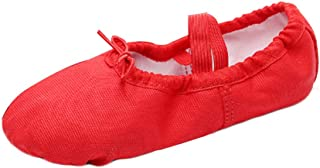 Fulision Women and Kids Solid Color Canvas Leather Non-Slip Sole Ballet Shoes