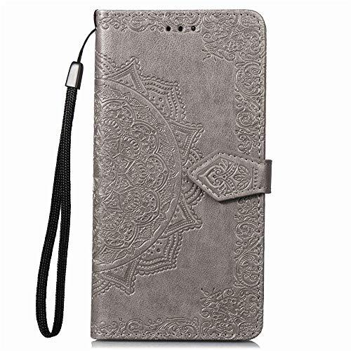 Coque pour Galaxy S7 Edge Antichoc étui Rabat Cuir Case Portefeuille FineTPU Gel Bumper Slim Silicone Wallet Cover Aimant Housse pour Samsung Galaxy S7Edge/G935F - ZISD010480 Gris