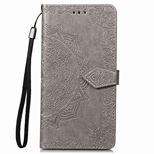 Hülle für Sony Xperia L3 Handyhülle Schutzhülle Leder PU Wallet Bumper Lederhülle Ledertasche Klapphülle Klappbar Magnetisch für Sony Xperia L3 - ZISD011495 Grau