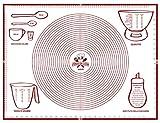 Tabla para amasar 80 x 60 cm, diseño italiano, medidas en cm, alfombrilla de horno de silicona reutilizable, antiadherente, resistente al calor, alfombra de cocina para pasta hecha en casa pastelería