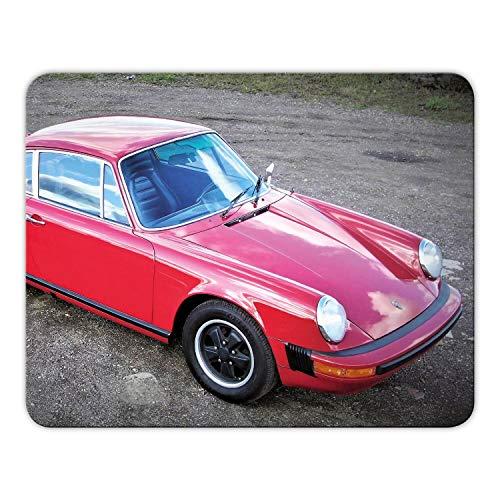 Addies Mousepad 'Porsche' schönes Mauspad Motiv in feiner Cellophan Geschenk-Verpackung mit Kautschuk Untermaterial, 24x19cm - MP04