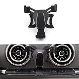 SMARTNAVI Soporte para teléfono de coche, soporte para teléfono móvil para Audi A3 S3 2014-2018 (negro)