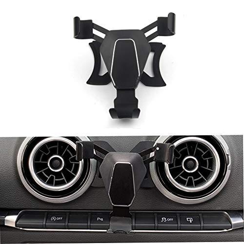 SmartNAVI - Support de téléphone Gravity Linkage pour grille d'aération de voiture avec verrouillage automatique pour Audi A3 S3 2014-2018