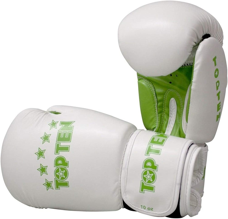 Top Top Top Ten R2M 2016 Boxing Gloves 10oz Weiß Grün B06X6M83LP  Schön 465419