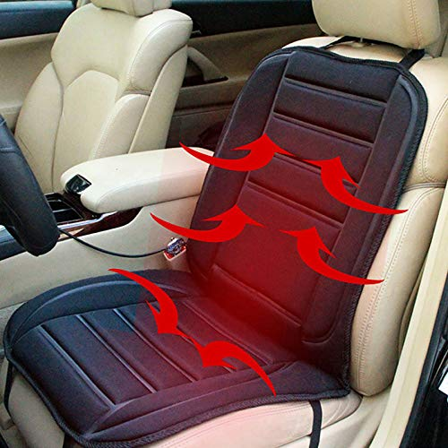 Heated Car Seat Cover, Heated Seat Cushion, Car Seat Heater That Plugs into Cigarette Lighter, Seat Warmer with High/Low Temperature Control, Universal Fitting for Car Seats Home Office