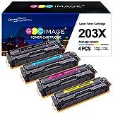 GPC Image 203X Cartucce toner compatibili per HP 203X CF540X 203A CF540A per HP Color Laserjet Pro MFP M281fdw M254dw MFP M281fdn MFP M280nw M254nw (4 Pack)