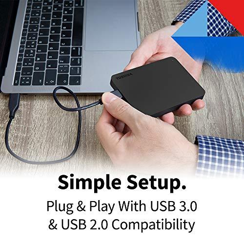 Toshiba Canvio Basics 2TB Portable External Hard Drive USB 3.0, Black - HDTB420XK3AA