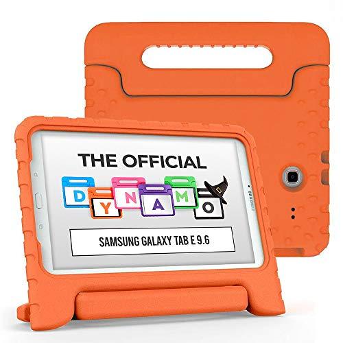 Cooper Dynamo [Custodia Rigida Cover] per Samsung Tab E 9,6 | Case Tablet per Bambini Copertura protettiva Supporto Maniglia Protezione (Arancio)