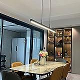 TRPYA Moderno Regulable DIRIGIÓ Luz Colgante, Tres Colores de iluminación for la Oficina de Cocina de Comedor, iluminación de la Isla, lámpara Colgante Larga araña for Tiendas Cafe 24W