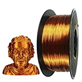Silk Copper PLA 3D Printer Filament 1.75 mm 1KG 2.2LBS Spool 3D Printing Material CC3D Shine Silky Shiny Metallic Metal Red Purple Copper PLA Filament