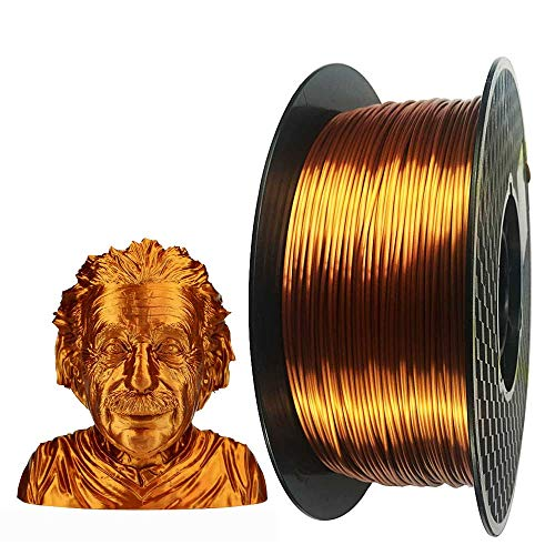 Silk Copper PLA 3D Printer Filament 1.75 mm 1KG 2.2LBS Spool 3D Printing Material Shine Silky Shiny Metallic Metal Red Purple Copper PLA Filament CC3D