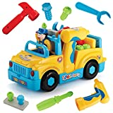 Liberty Imports Multifunctional Take Apart Toy Tool Truck With Electric Drill and Power Tools,...