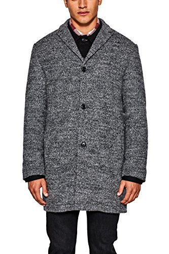 edc by ESPRIT Herren 097CC2G028 Mantel, Grau (Dark Grey 020), X-Large