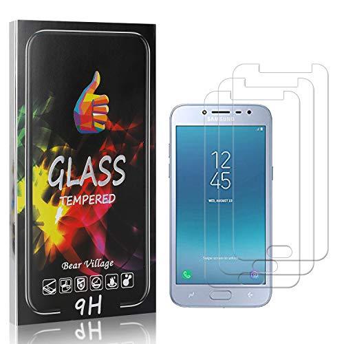 Displayschutzfolie Kompatibel mit Galaxy J2 Pro 2018, Bear Village 9H Härte Schutzfolie aus Gehärtetem Glas für Samsung Galaxy J2 Pro 2018, Keine Luftblasen Schutzfolie, 3 Stück