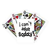 Inglés diseño de palabras para adultos hoy, poker jugando magia tarjeta divertido juego de mesa