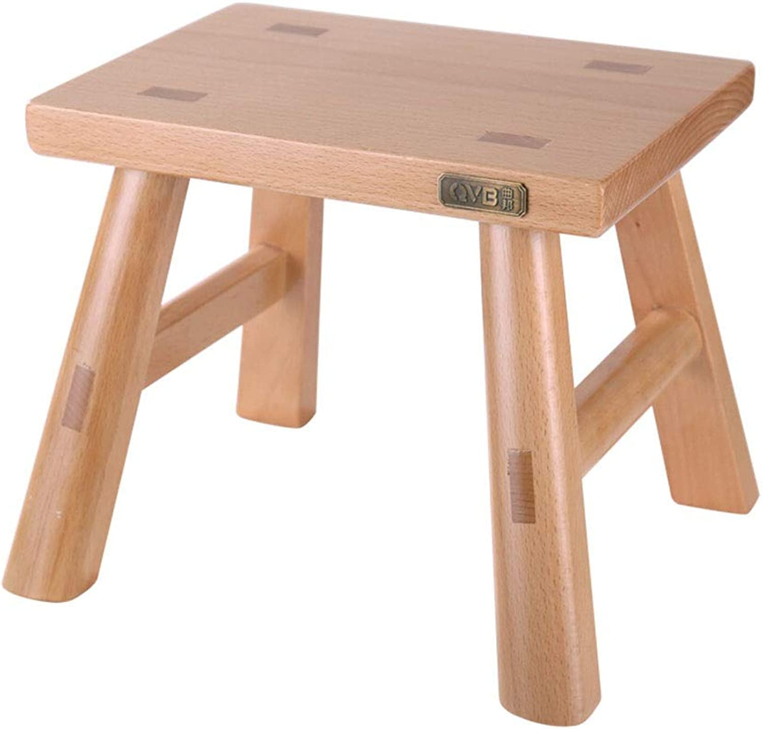 Small Stool-Leisure Stool Square Stool Fashion Stool Bathroom Stool Oak Small Bench Adult shoes Bench Solid Wood FENPING (color   Walnut color, Size   28  20  24cm)