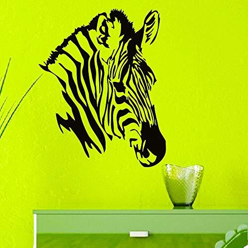 Quszpm Cebra Caballo Animal calcomanía Pared Vinilo calcomanía decoración del hogar Pegatina 92 cm x 114 cm
