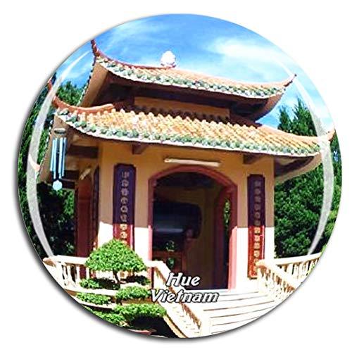 Weekino Vietnam Thien Mu Pagoda Hue Calamità da frigo 3D Cristallo Bicchiere Tourist City Viaggio Souvenir Collezione Regalo Forte Frigorifero Sticker