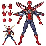 IAIZI アイアンスパイダーマン玩具モデル、マーベルアベンジャーズ無限大戦スーパーヒーロースパイダーマンのアクションフィギュアは子供以上3歳のモデルの子供のおもちゃが適し移動します。