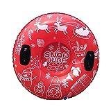 POXIAO Tubo de Nieve Inflable, Tubo de Nieve de Navidad Trineo de Nieve Inflable con Asas Resistentes Trineo de Nieve para niños Adultos Invierno al Aire Libre