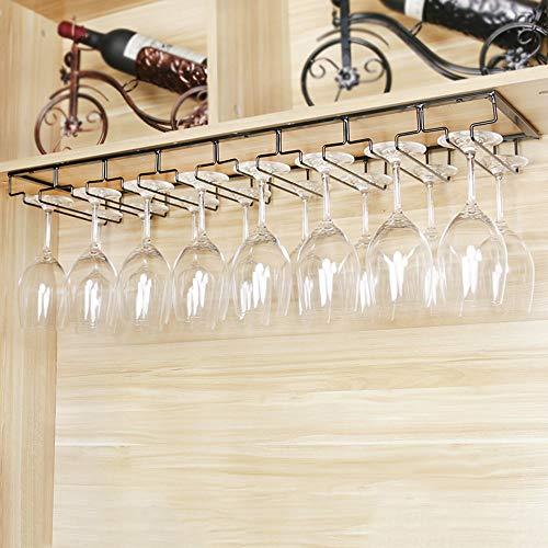 Supporto Doppia Fila Ferro Cromo Bicchieri di Vino del Supporto della Parete Calici Rack per la Barra Domestica VIFERR Rack Calici