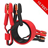 YANTU Booster Cable Car Jumper Cable 10 Feet with Overvoltage Protector and LED Light