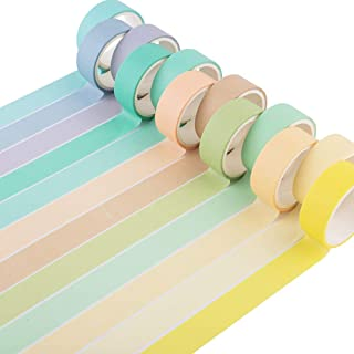 YUBBAEX 12 Rolls Natural Washi Tape Set, Candy Color Decorative Tapes for DIY, Bullet Journal, Craft, Wrapping, Scrapbook ...