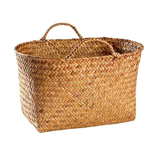 saus, basketbalmand, handgeweven, bewaarmand, rotan, groenten en fruit, materiaal mand natuur met handvat, multifunctionele bewaarmand